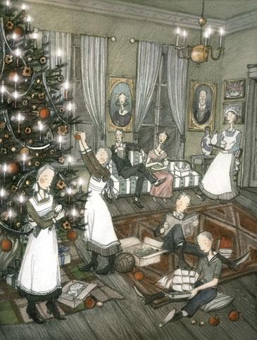Andersen Der Tannenbaum.Gerda Raidt Illustration